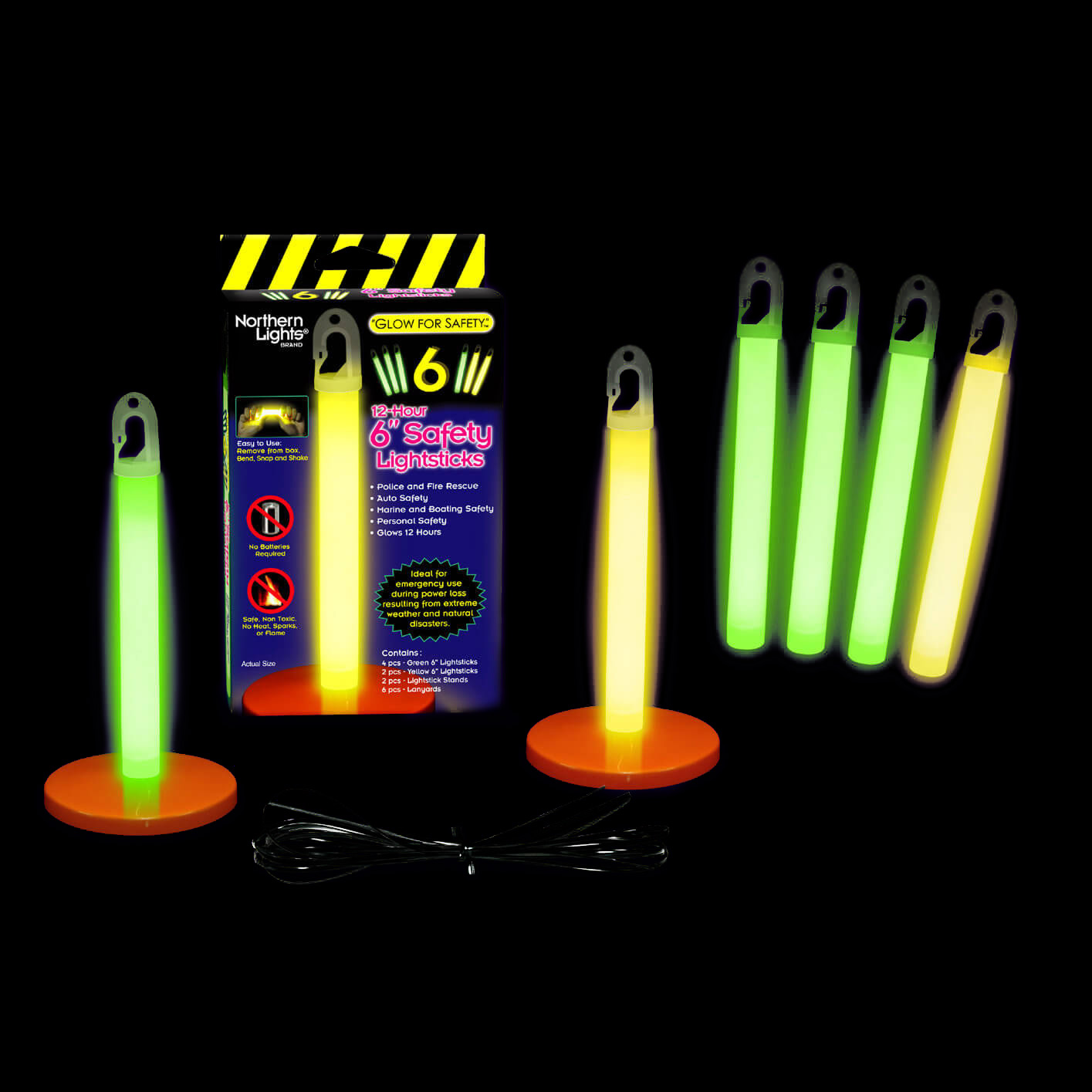 Home Office Safety Kit 6 Glow Stick Emergency Lighting
